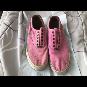 Pink Polo By Ralph Lauren Slip On Vito Shoes Sz 9